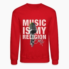 Music is my religion Long Sleeve Shirts
