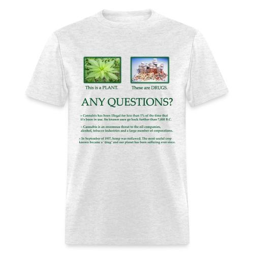 Plant VS Drugs  - Men's T-Shirt