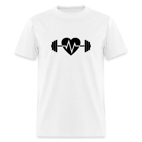 heart dumbell 14.00 - Men's T-Shirt