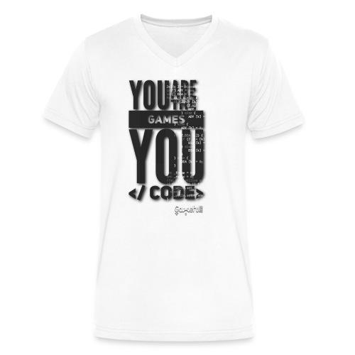 Y R the Game Y Code - Men's V-Neck T-Shirt by Canvas