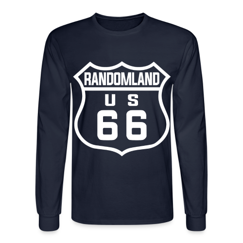 Randomland 66 logo Long Sleeve Shirt! (Men/Unisex) - Men's Long Sleeve T-Shirt