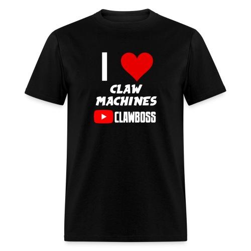 I Love Claw Machines (White) ClawBoss T Shirt  - Men's T-Shirt