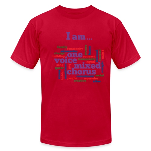 I am One Voice - Men's T-Shirt by American Apparel - Men's  Jersey T-Shirt
