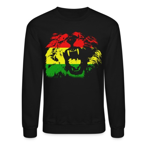 Lion Jamaican Flag - Crewneck Sweatshirt