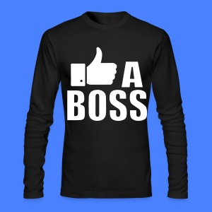Like A Boss Thumbs Up Long Sleeve Shirts - Men's Long Sleeve T-Shirt by Next Level