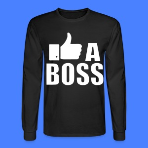 Like A Boss Thumbs Up Long Sleeve Shirts - Men's Long Sleeve T-Shirt