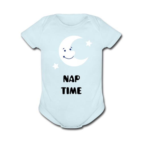 Nap Time - Baby One Piece - Organic Short Sleeve Baby Bodysuit