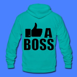 Like A Boss Thumbs Up Zip Hoodies/Jackets - Unisex Fleece Zip Hoodie by American Apparel