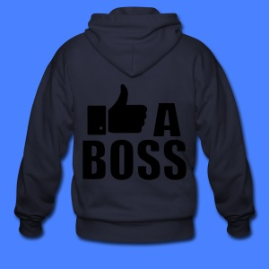 Like A Boss Thumbs Up Zip Hoodies/Jackets - Men's Zip Hoodie