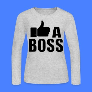 Like A Boss Thumbs Up Long Sleeve Shirts - Women's Long Sleeve Jersey T-Shirt