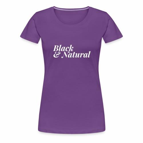 Black & Natural Women's Tee - Women's Premium T-Shirt