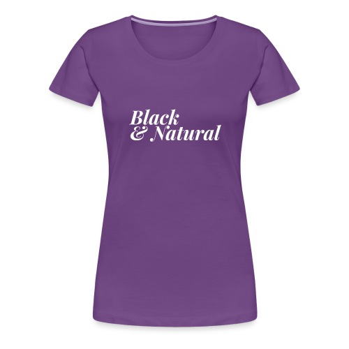 Black & Natural Women's Tee - Women's Premium T-Shirt
