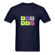 T-Shirts ~ Men's T-Shirt ~ NERD BOY! Periodic Elements Scramble