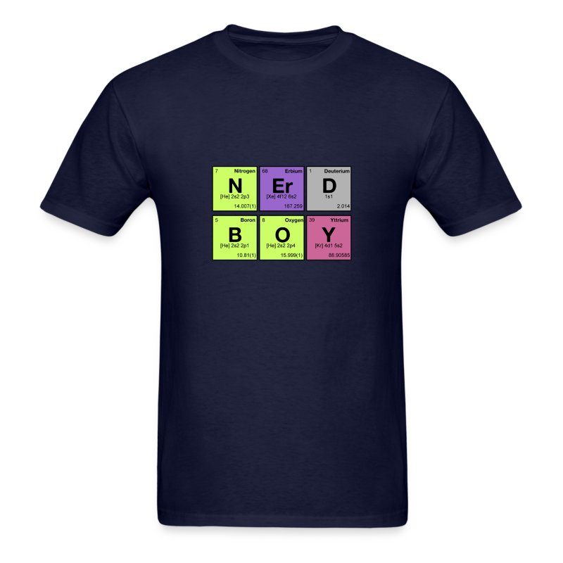 NERD BOY! Periodic Elements Scramble - Men's T-Shirt