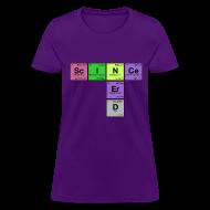 Women's T-Shirts ~ Women's T-Shirt ~ SCIENCE NERD! Periodic Elements Scramble