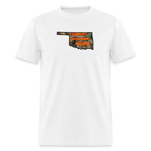 I Support Oklahoma Teachers (Camo) - Men's T-Shirt