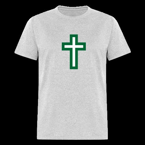 Men's T-Shirt Green White Cross Hot! - Men's T-Shirt
