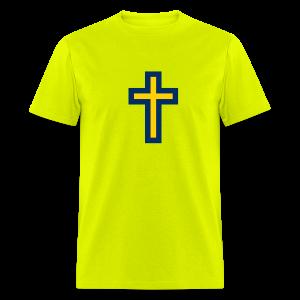 Men's T-Shirt Maize Blue Cross Hot! - Men's T-Shirt