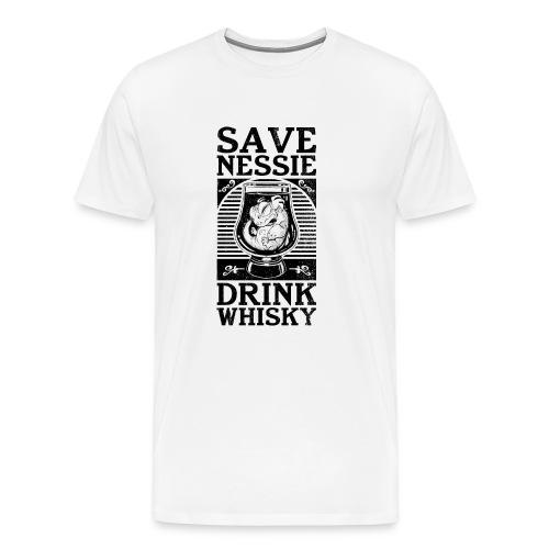 Save Nessie, Drink Whisky! 2 T-Shirts - Men's Premium T-Shirt