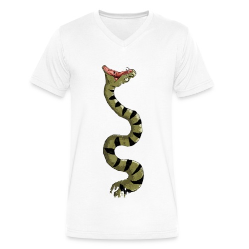 Snake! T-Shirts - Men's V-Neck T-Shirt by Canvas