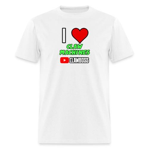 I Love Claw Machines (Green) ClawBoss T Shirt (Black Outline) - Men's T-Shirt