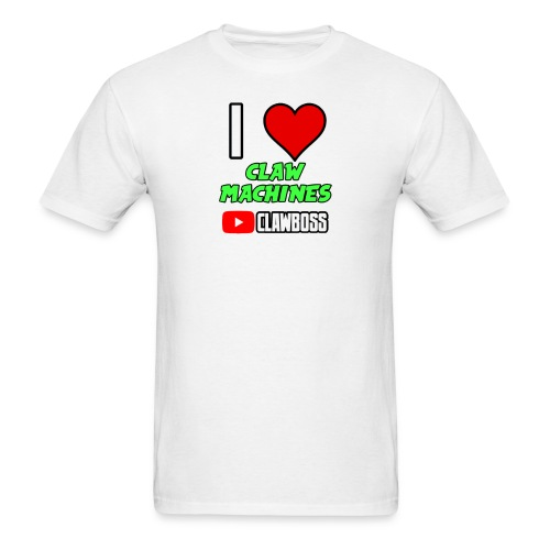 I Love Claw Machines (Green) ClawBoss T Shirt (Black Outline) - Men's T-Shirt
