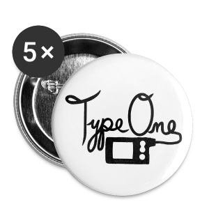Type One  - Pump Design 2 - Black - Large Buttons