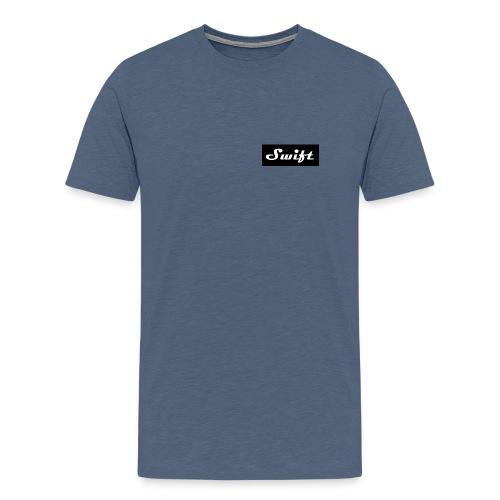 mens small script logo  - Men's Premium T-Shirt