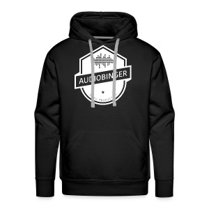Mens Audiobinger Hoodie White Logo - Men's Premium Hoodie