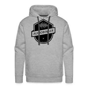 Mens Audiobinger Hoodie Black Logo - Men's Premium Hoodie