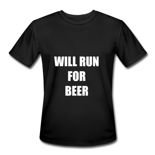 will run for beer men's - Men's Moisture Wicking Performance T-Shirt