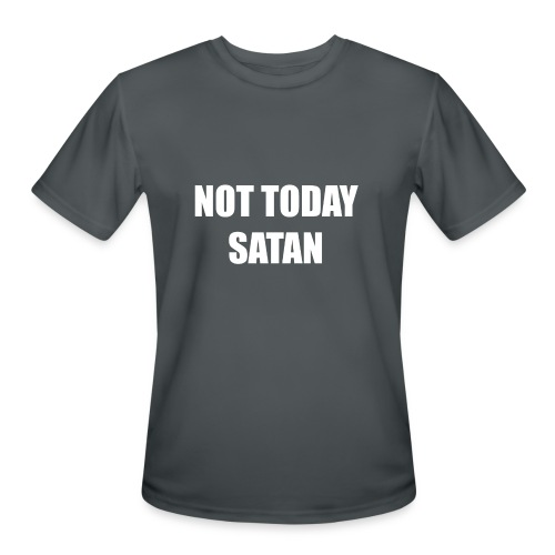 not today satan men's - Men's Moisture Wicking Performance T-Shirt