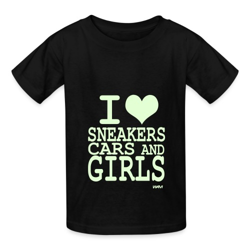 I Heart Sneakers, Cars, and Girls Kids - Kids' T-Shirt
