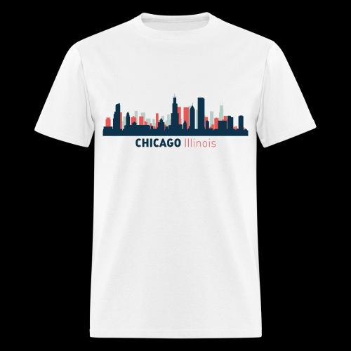 Chicago Skyline T-Shirt - Men's T-Shirt
