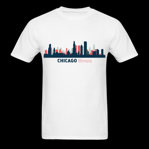 Chicago Skyline T-Shirt - Men's T-Shirt