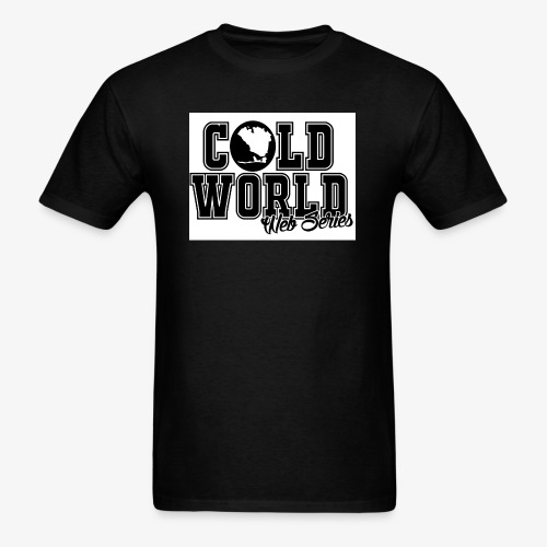 Cold World Stamp with White Background for Men  - Men's T-Shirt