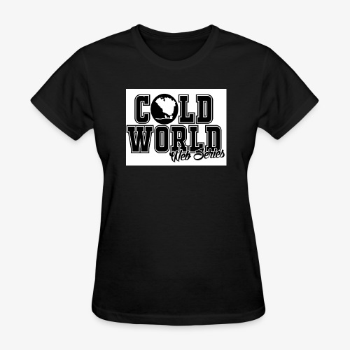 Cold World Stamp with White Background for Women  - Women's T-Shirt