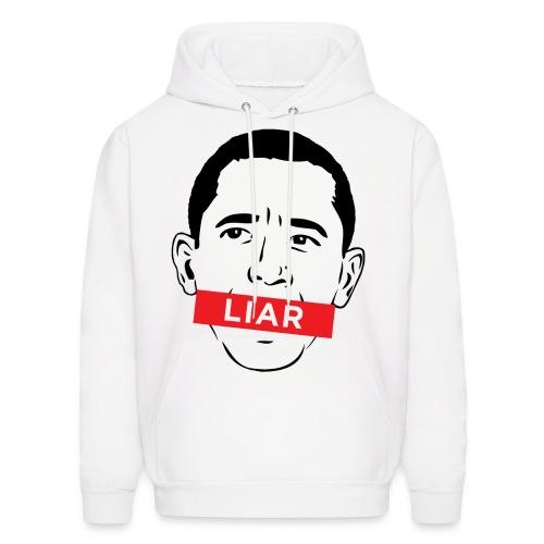 Obamas A Liar Hoodie - Men's Hoodie