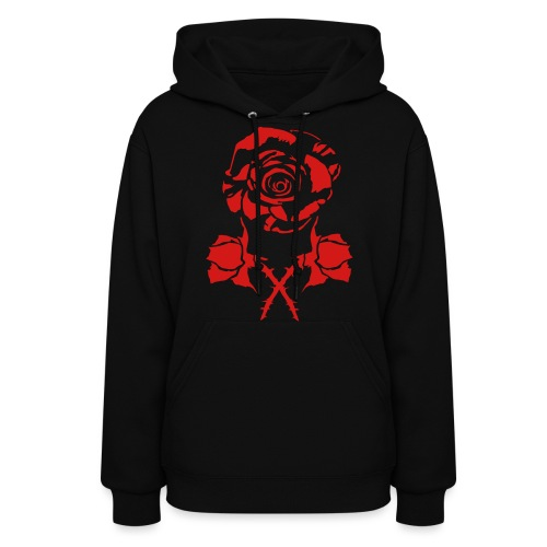 new rose and crossbud - Women's Hoodie