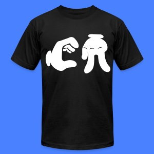 California Hand Sign T-Shirts - Men's T-Shirt by American Apparel