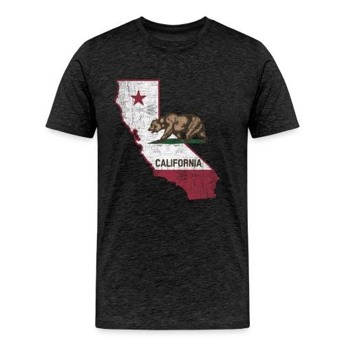 California State Map - Cali Bear - Men's Premium T-Shirt