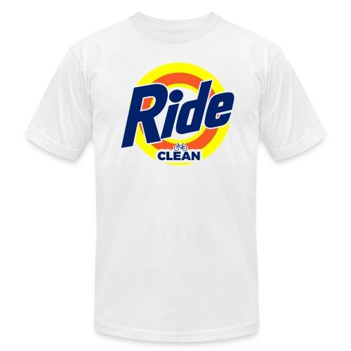 Ride Clean by Bob Roll - Men's  Jersey T-Shirt
