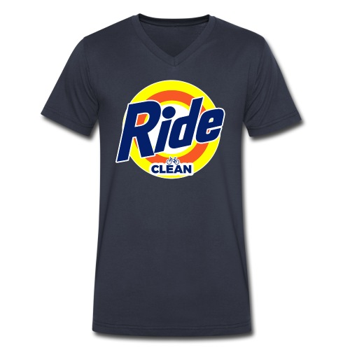 Ride Clean by Bob Roll - Men's V-Neck T-Shirt by Canvas