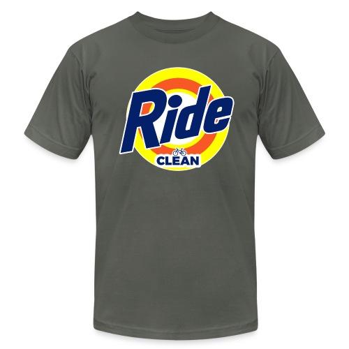Ride Clean by Bob Roll - Men's Fine Jersey T-Shirt