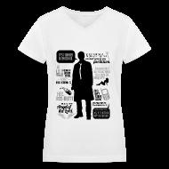 Women's T-Shirts ~ Women's V-Neck T-Shirt ~ Castiel quotes [DESIGN BY AVIA]