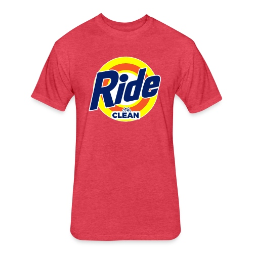 Ride Clean by Bob Roll - Fitted Cotton/Poly T-Shirt by Next Level