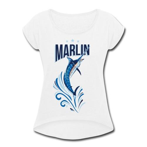 AD Marlin - Women's Roll Cuff T-Shirt