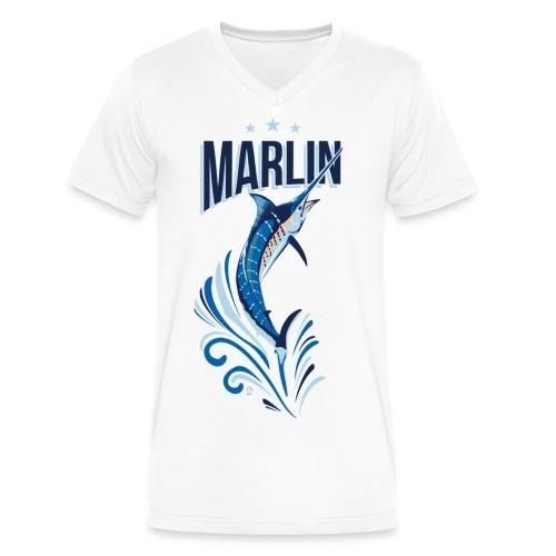 AD Marlin - Men's V-Neck T-Shirt by Canvas