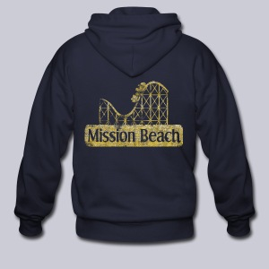 Vintage Mission Beach - Men's Zip Hoodie