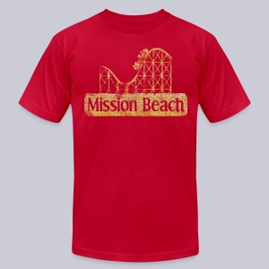 Vintage Mission Beach - Men's T-Shirt by American Apparel